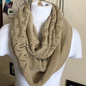Rubbish infinity scarf tan multi knits
